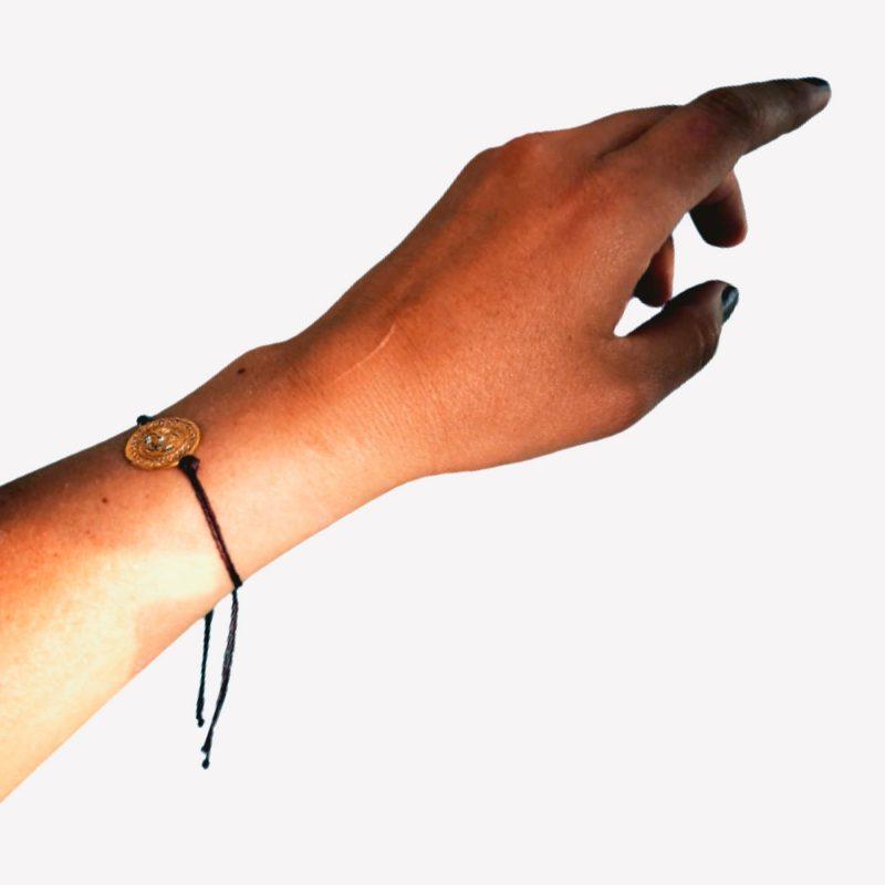Bracelet ajustable tête félin
